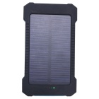 SUNWALK 10000mAh Dual USB Output Solar Charger Portable Power Bank - Black + Blue
