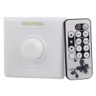 Low Voltage PWM Smart Dimmer + IR Infrared Wireless Remote Controller for LED Lamps - White + Black