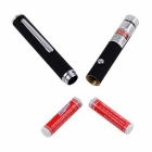 Pen Pointer KF-10 5mW Laser Red w / Clip - prata + prata antigo