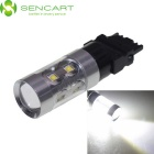 SENCART 3156 P27W W2.5X16D Cold White 10-LED for Car Steering Light / Backup Light (DC 12~24V)