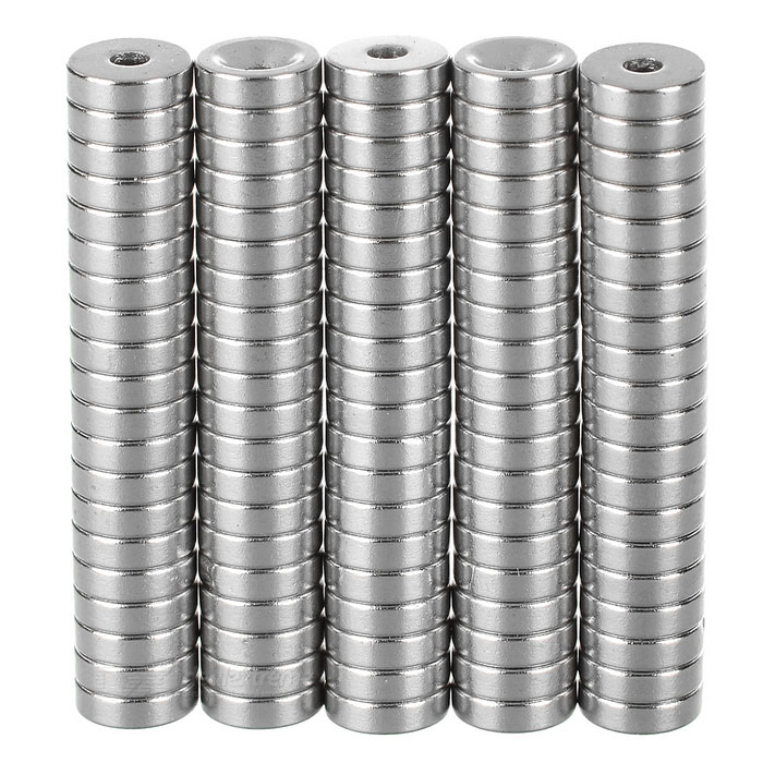10*3-3mm NdFeB Neodymium Magnets DIY Puzzle Set - Silver (100PCS)