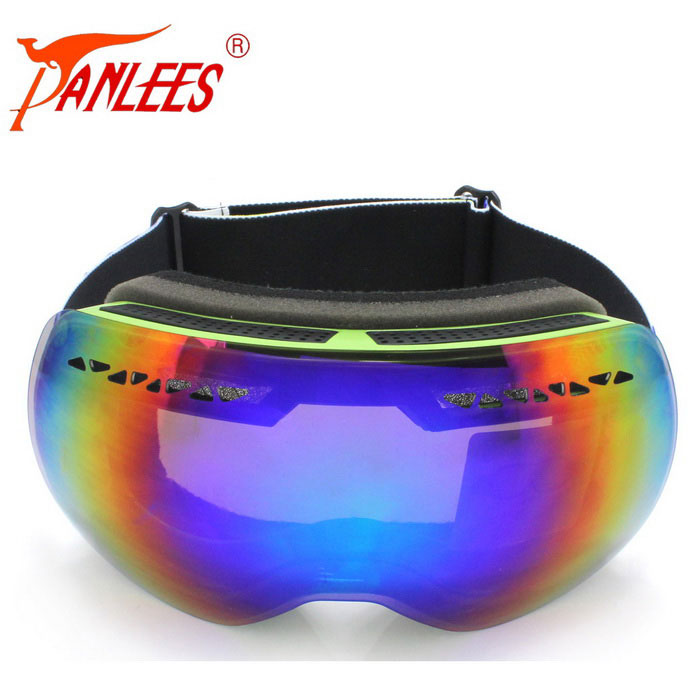 Panlees 2-Layer Anti-Fog Ski Goggles para Míope Glasses- Verde