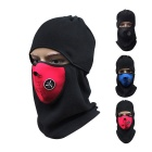 Motorcycle Windproof Warm Fleece Face Mask Hat Headwear Outdoors Gear - Black + Red