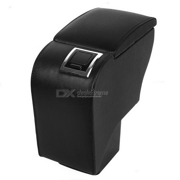 CARKING Faux Leather Armrest Center Console Storage Box for Ford Focus - Black