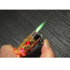 SYS0051 Dragon Pattern Cigarette Lighter - Golden + Red