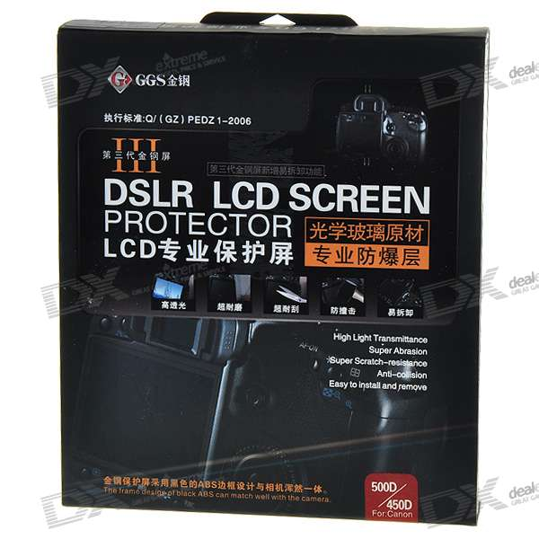 DSLR LCD Screen Protector für Canon 500D/450D