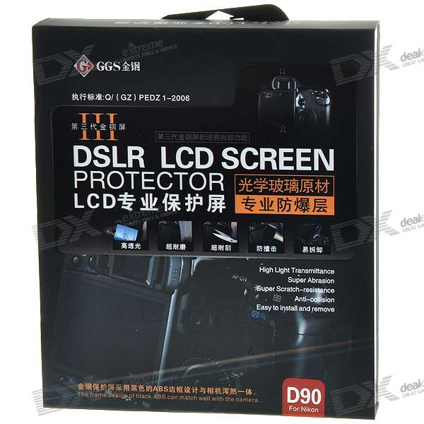 DSLR LCD Screen Protector for Nikon D90