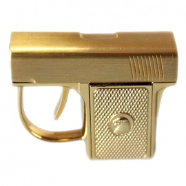 Creative Gun Style Windproof Gas Lighter - Golden