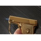 Criativa Gun Estilo Windproof Gas Lighter - Golden