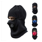 Motorcycle Windproof Warm Fleece Face Mask Hat Headwear Outdoors Gear - Black