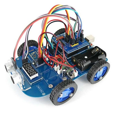 N20 Gear Motor 4WD Bluetooth Controlled Smart Robot Car Kit w/ Tutorial for Arduino - Blue + Black