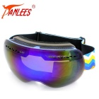 Panlees DH009 Double-Layer PC Lens TPU Frame Anti-Fog Skiing Goggles for Myopic Glasses - Blue