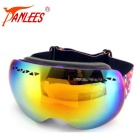 Panlees DH009 Double-Layer PC Lens TPU Frame Anti-Fog Skiing Goggles for Myopic Glasses - Purple