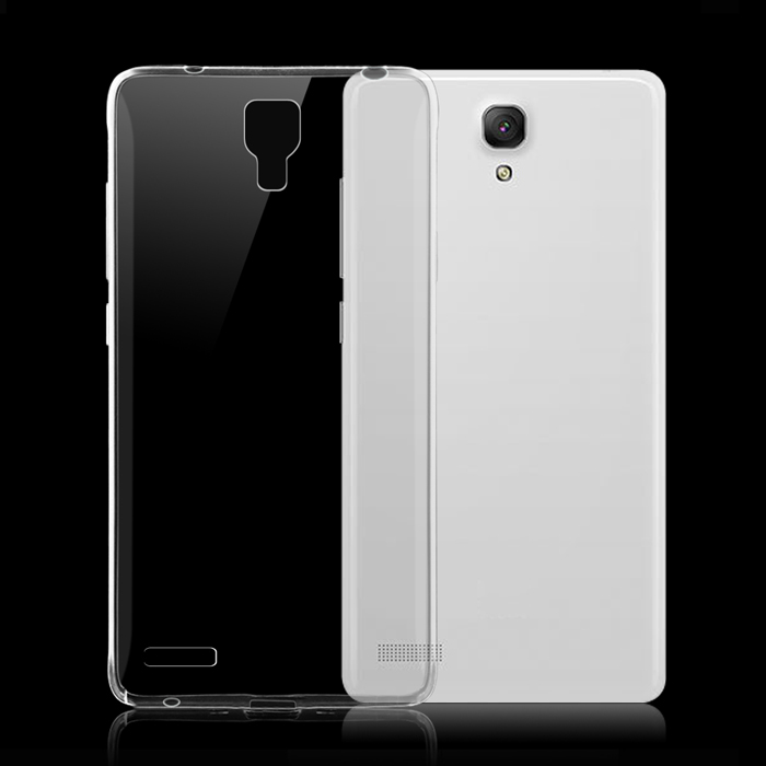 ultra-Thin Protective TPU Back Case pour Xiaomi Redmi Note-transparent
