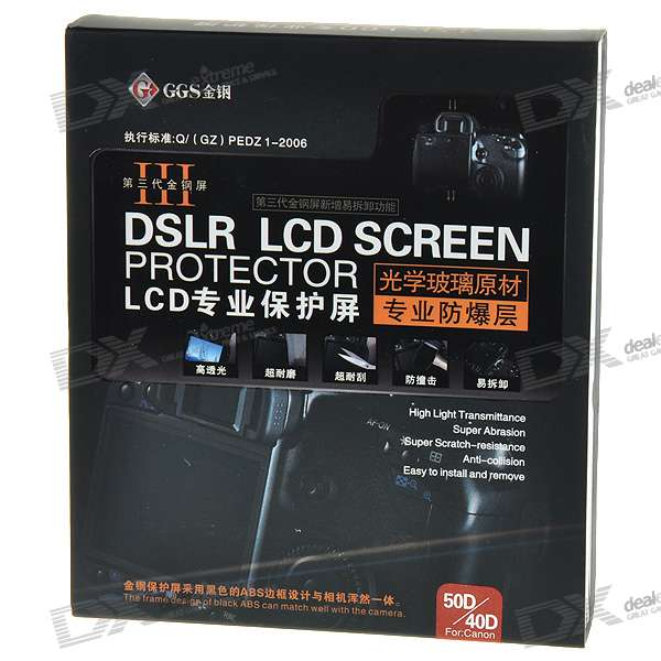 DSLR LCD Screen Protector for Canon 50D/40D