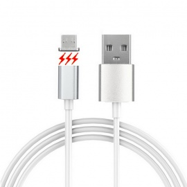 Cwxuan Micro USB Detachable Magnetic Adhesion Data Sync Charging Cable for Android Phone - White