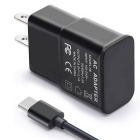 Itian A6 Type C US Plug Travel Charger Kit - Black