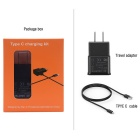 Itian A6 Type C US Plugss Travel Charger Kit - Black