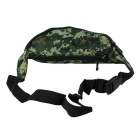 600D Water-Resistant Camouflage Running Waist Bag Package - Green