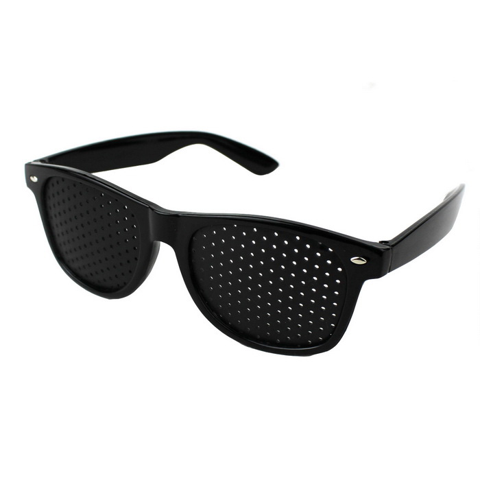 New Shape Fly Pinhole Anti Fatigue Myopia Glasses - Black