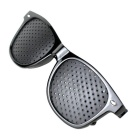 Neue Form Fly Pinhole Anti Fatigue Myopie Brille - Schwarz