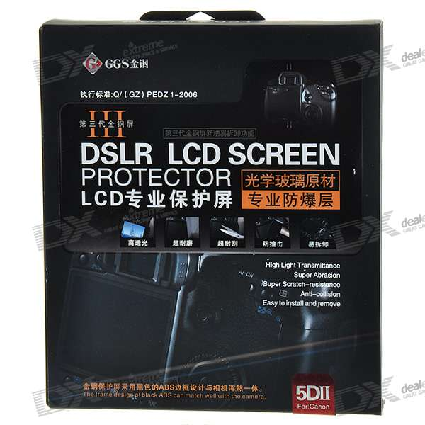 DSLR LCD Screen Protector for Canon 5D Mark-II