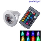 YouOKLight MR16(GU5.3) 3W 240lm RGB LED Decoration Bulb Remote Control Lamps (DC 12V)