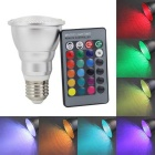 KINFIRE PAR20 E27 5W 400lm LED RGB Light Bulb + 24 Key Infrared Remote Controller (AC 85~265V)