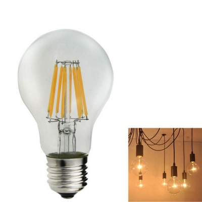 E27 A60 8W 720lm 3000K Warm White 8-LED Filament Bulb (85V~265V)
