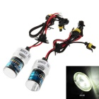 H1 35W 4300K Warm White Light HID Xenon Lamp for Car / Motorcycle (12V / 2 PCS) - Transparent