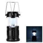 CTSmart GH:G-85 Outdoor Multifunctional Waterproof USB Solar Rechargeable Tent Lantern Lamp - Black