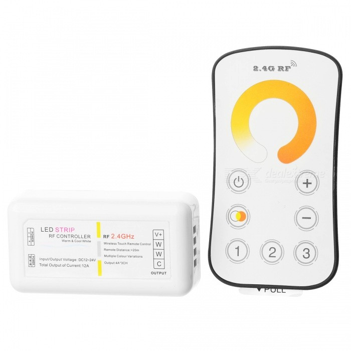 12A WW / CW LED-lampor Dimmer + 2.4G Wireless RF Controller