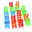 Stacking Chairs Balance Game Office Puzzle Educational Toy - Multi-Colored (18pcs)
