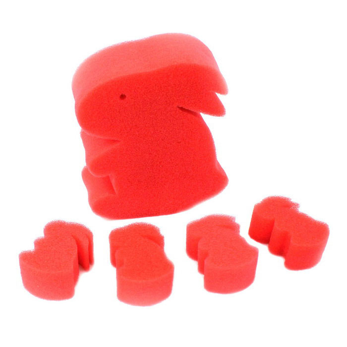 Un Lapin Big Four petite éponge Magic Trick Prop - Red (5pcs)