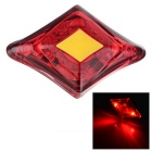 Letdooo Waterproof High Light Rechargeable 3-Mode 2-LED Red Light Bike Tail Light - Red + Yellow