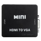 Mini HDMI to VGA 1080P Converter - Black