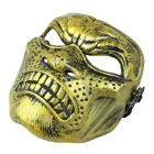 Halloween Protective Anger Face Mask - Black + Golden