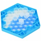 Break the Ice Puzzle Desktop Game Penguin Knock Ice Building Blocks Interaction Toys - White + Blue