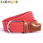 Unisex Simple Elastic Weave Belt - Red