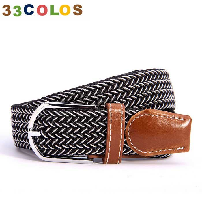Unisex Simple Elastic Weave Belt - Black + White (NO.26)Belts and Buckles<br>Form  ColorWhite + Black + Multi-ColoredQuantity1 DX.PCM.Model.AttributeModel.UnitShade Of ColorBlackMaterial100% PolyesterGenderUnisexSuitable forCoupleBelt Length105~120 DX.PCM.Model.AttributeModel.UnitBelt Width3.5 DX.PCM.Model.AttributeModel.UnitPacking List1 x Belt<br>