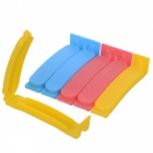 Food Bag Sealed Clips - Red + Yellow + Multi-Colored (6PCS)