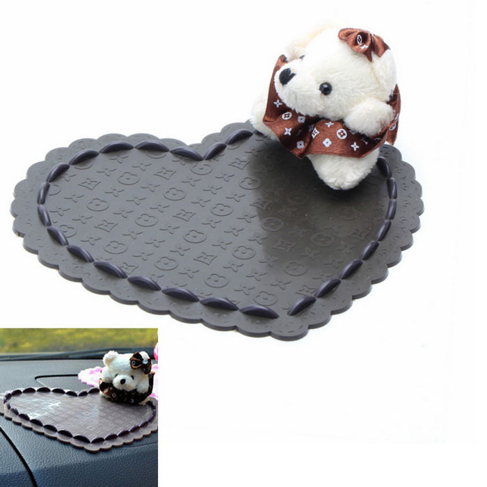Lovely Bear Style Car Anti-Slip Mat Pad - Coffee + WhiteAnti-slip Mats<br>Form  ColorCoffee + WhiteModelN/AMaterialRubberQuantity1 DX.PCM.Model.AttributeModel.UnitShade Of ColorBrownDimension16.5*14.5*5 DX.PCM.Model.AttributeModel.UnitPacking List1 x Car Anti-Slip Mat<br>