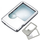 Name Card Type Lamp Reading Portable Magnifier - Bright Silvery Grey