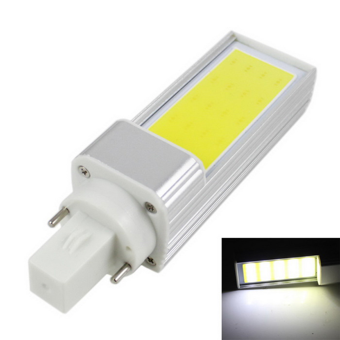KINFIRE G24 7W 560lm 6000K LED COB Cold White Light Bulb (AC85~265V)