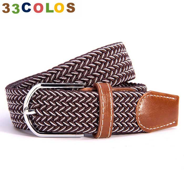 Unisex Simple Elastic Weave Belt - Brown + White (NO.28)Belts and Buckles<br>Form  ColorWhite + Reddish BrownQuantity1 DX.PCM.Model.AttributeModel.UnitShade Of ColorBrownMaterial100% PolyesterGenderUnisexSuitable forCoupleBelt Length105~120 DX.PCM.Model.AttributeModel.UnitBelt Width3.5 DX.PCM.Model.AttributeModel.UnitPacking List1 x Belt<br>
