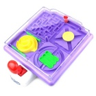 Agile Skill 4-in-1 Handle Maze Game Puzzle Toy - Purple + Multi-Colored