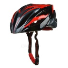 CTSmart X8 Outdoor Cycling 24-Hole Breathable Ultralight EPS + PC Bike Safety Helmet - Black + Red