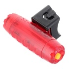 Letdooo Water-Resistant 3-Mode Red Light 3-LED Safety Warning Bike Tail Light - Red