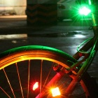 Letdooo Waterproof High Light Rechargeable 3-Mode 2-LED Green Light Bike Tail Light - Yellow