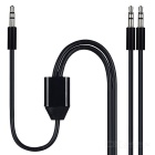 Cwxuan 3.5mm 1-to-2 Male to Male Audio Cable - Black (2m)